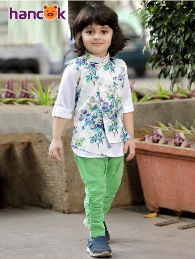 Hancok Boys Linen Shirt And Pant Set - 4191