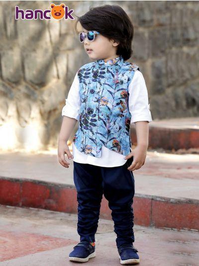 Hancok Boys Linen Shirt And Pant Set - 4210