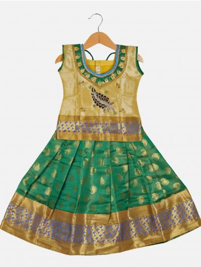 Girls Ready Made Art Silk Pavadai Set - GPP5004