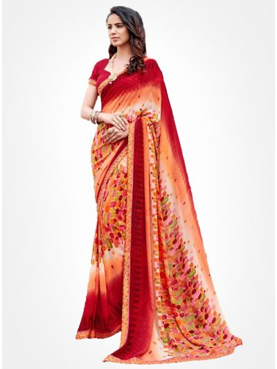 Yuvathi Georgette Saree-Multicolor-YGS5006