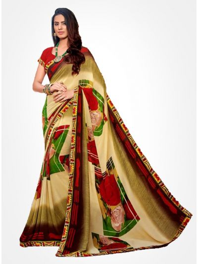 Yuvathi Georgette Saree-Multicolor-YGS5017