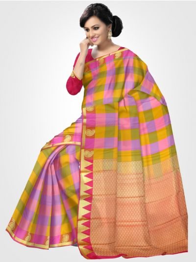 Fancy Art Silk Multicolor Saree