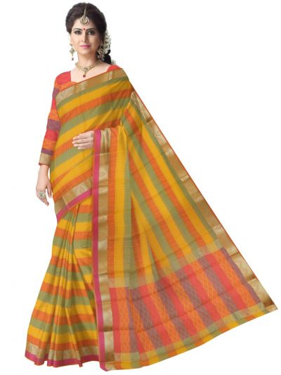 Fancy Art Silk Saree - FAS524