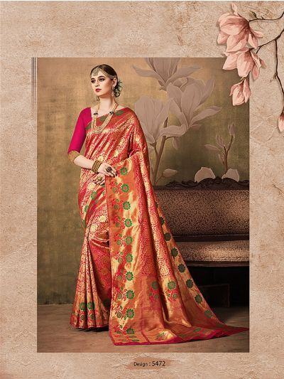 MIB3662981 - 5472 - Fancy Zari Woven Softy Silk Saree