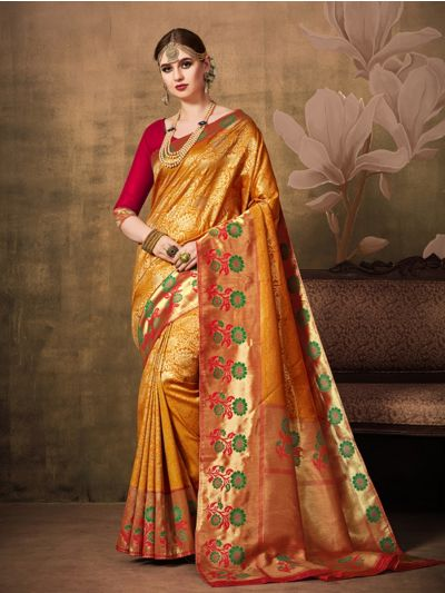 Fancy Zari Woven Softy Silk Saree - MIB3662983 - 5473