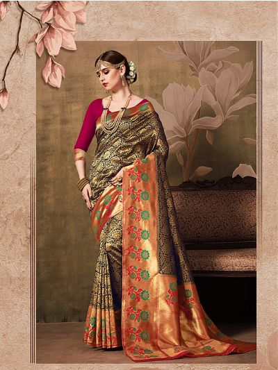 MIB3662982 - 5474 - Fancy Zari Woven Softy Silk Saree
