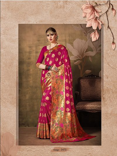 MIB3662987 - 5475 - Fancy Zari Work Softy Silk Saree