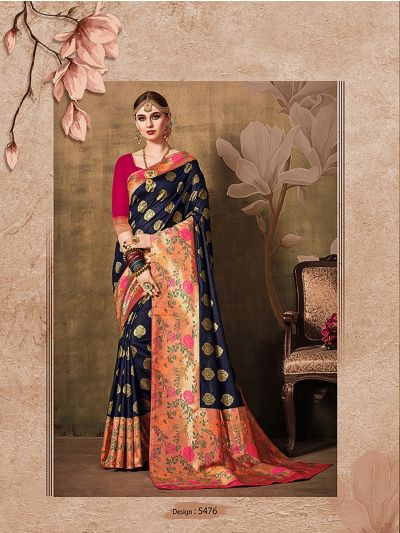 MIB3662985 - 5476 - Fancy Zari Woven Softy Silk Saree
