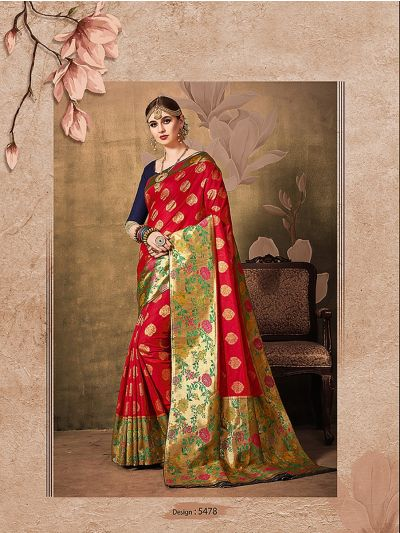 MIB3662988 - 5478 - Fancy Zari Woven Softy Silk Saree