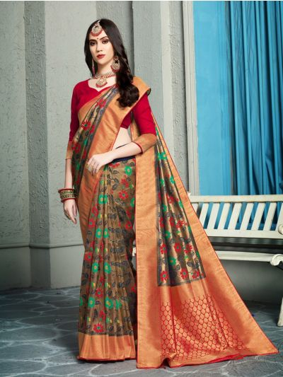 Fancy Zari Woven Softy Silk Saree - MIB3662993-5495