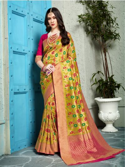 Fancy Zari Woven Softy Silk Saree - MIB3662990-5496