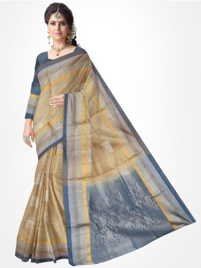 Sandelwood Soft Silk Saree