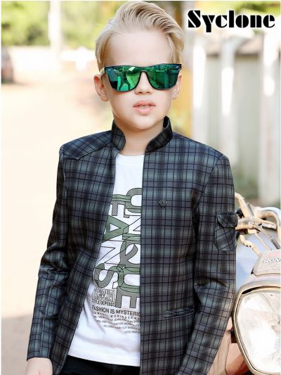 Syclone Boys Blazer With T-Shirt