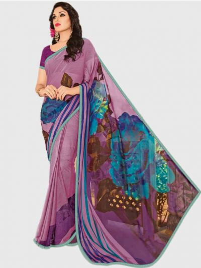 Marble Chiffon Fancy Saree-Violet-CFS6213