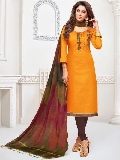 Isabella Women's Long Slub South Dress Material