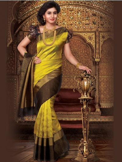Vivaha Green Color Handloom Kanchipuram Pure Silk Saree