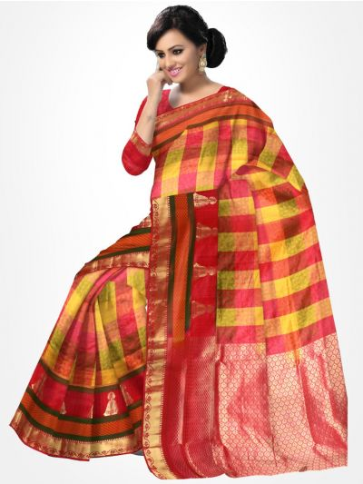 Traditional Silk Saree Multicolour