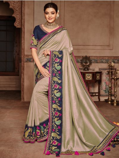 Exclusive Designer Party Wear Saree With Designer Blouse - SKK706