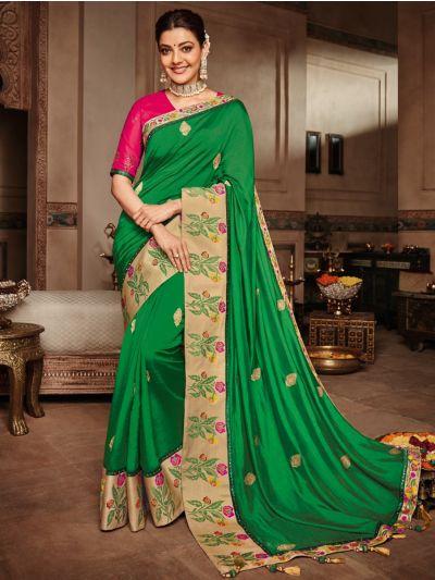 Exclusive Designer Party Wear Saree With Designer Blouse - SKK715
