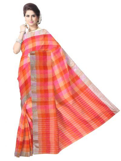 Multicolor Linen Cotton Saree -LCS829