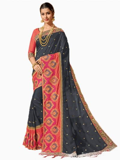 Party wear Sana Silk Multi Saree - PWSS8668