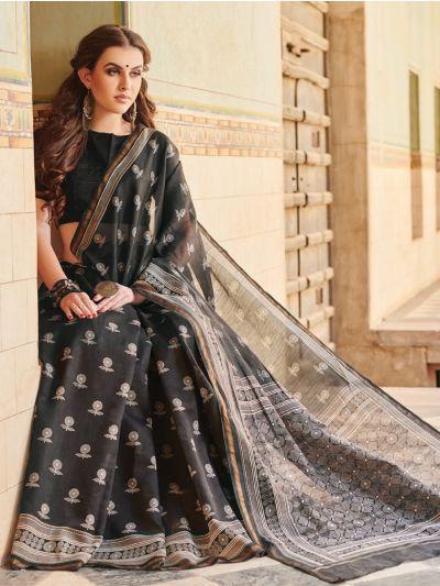 Kathana Chanderi Printed Fancy Saree-MAE3892738