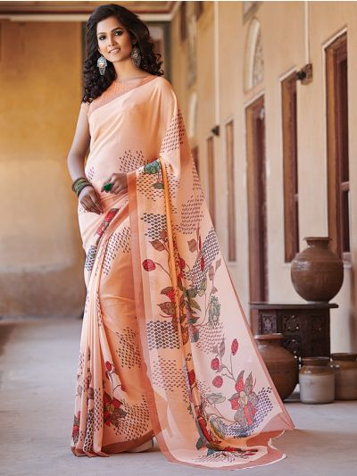 Sahithyam Pure Georgette Digital Printed Fancy Saree