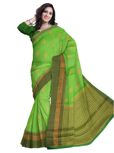 Tussar Green Silk Saree