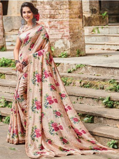 Sahithyam Katan Silk Big Checks Printed Fancy Saree