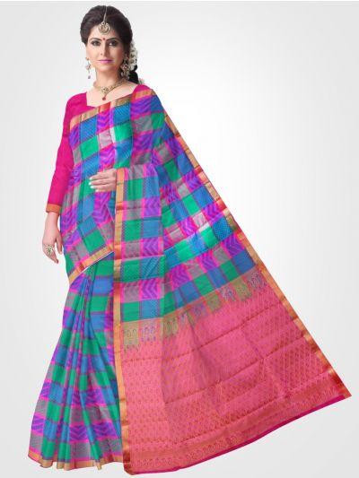 Multi Color Traditional Silk Saree