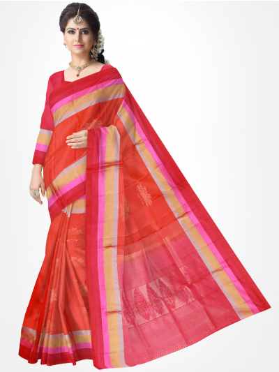 Soft Silk Red Color Saree-1154