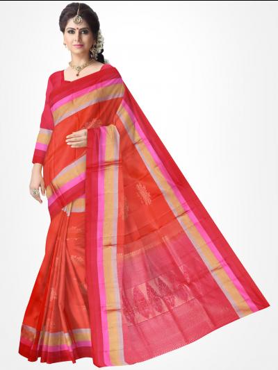 Soft Silk Red Color Saree-1154