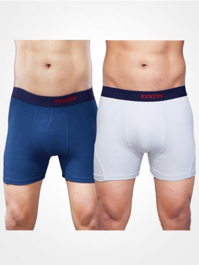 Zulus Festin Men's Cotton Trunks Pack of 2-BW001