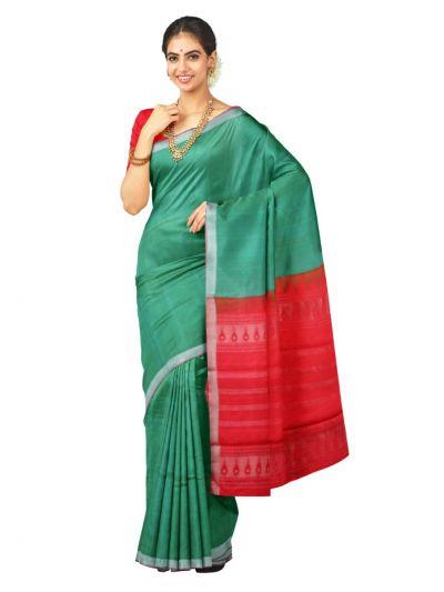 Kanmanie 1 Inch Border Silk  Saree