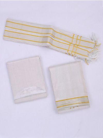 KKV Wedding Pure Silk Shirt & Dhoti Material Set