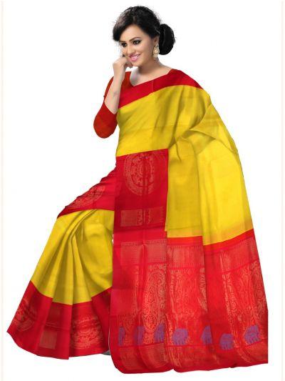 LDA3410569-Chamelli Exclusive Chanderi Silk Cotton Saree