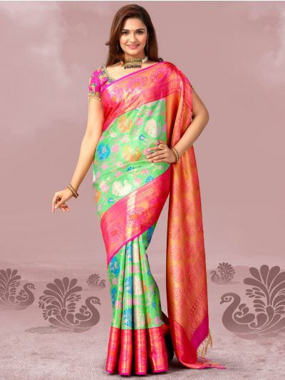 Vivaha Exclusive Kanchipuram Wedding Silk Saree - LDB4143650