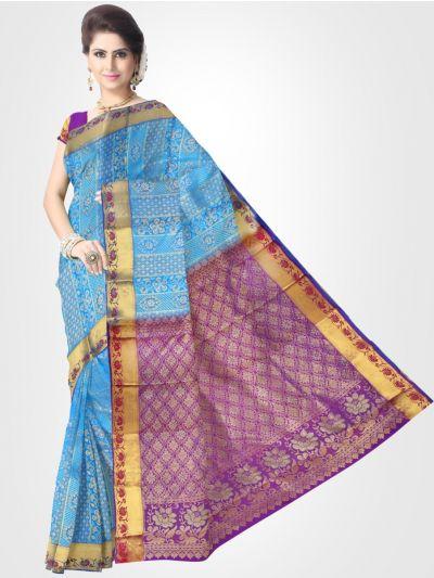 Vivaha Kanchipuram Stone Work Silk Sareee - LDE6488014