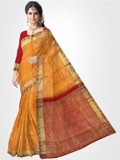 Vivaha Kanchipuram Stone Work Silk Sareee - LDE6772943