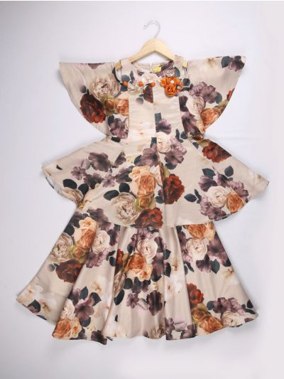Girls Multicolor Imported Long Frock