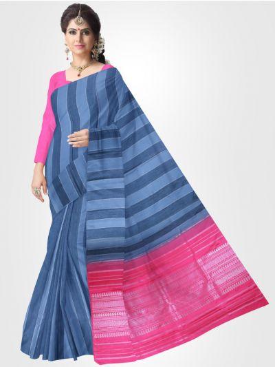 Estrila Kanchipuram Blue Silk Saree