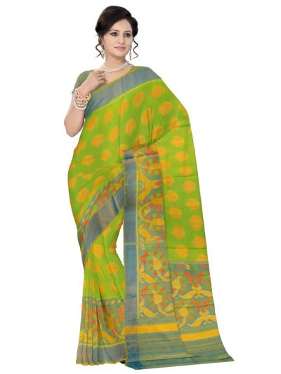 Vipanji Multicolor Embossed Design Soft Silk Saree