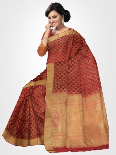 Vivaha Kanchipuram Stone Work Silk Saree - LFD6731467