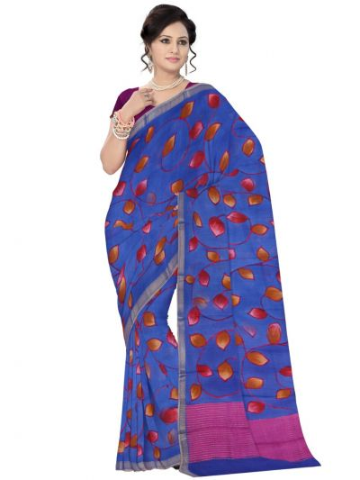 Fancy Tussar Printed Design Saree