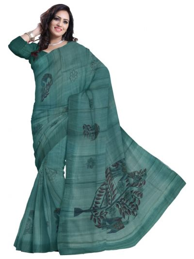 Printed Design Tussar Saree