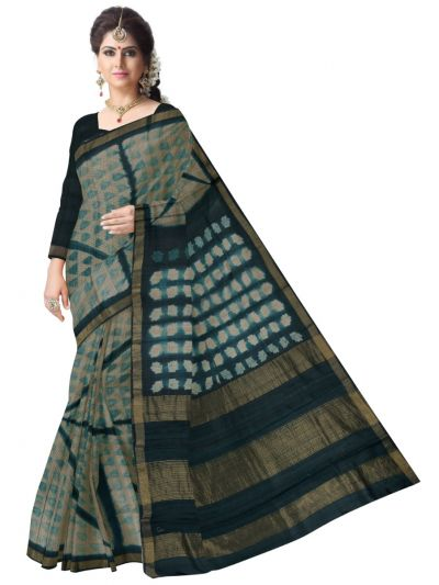 Printed Design Tussar Silk Saree