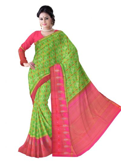 Estrila Kanchipuram Green Silk Saree