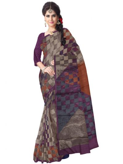Tussar Printed Design Saree
