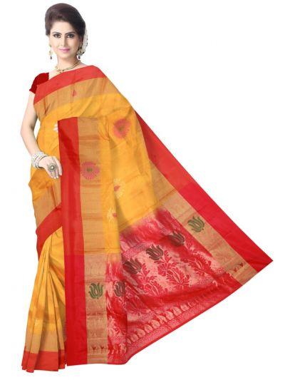 Pure Soft Silk Yellow Saree