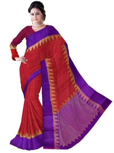 Kyathi Mysore Silk Red Saree